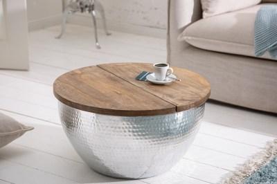Design dohányzóasztal Malia Orient ezüst