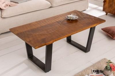 Design dohányzóasztal Shayla 110 cm barna / mangó