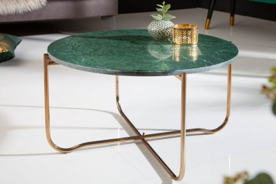 Design dohányzóasztal Tristen 62 cm márvány zöld