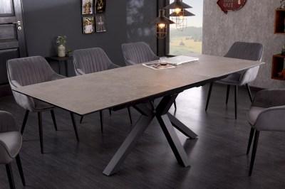 Design étkezőasztal Age 180-225 cm kerámia beton