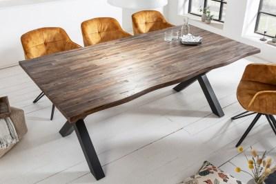 Design étkezőasztal Evolution 160 cm barna / akác
