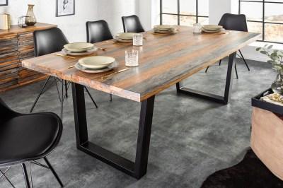 Design étkezőasztal Flame 180 cm Sheesham szürke