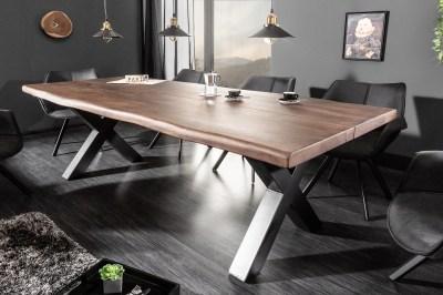 Design étkezőasztal Lorelei 220 cm barna / akác