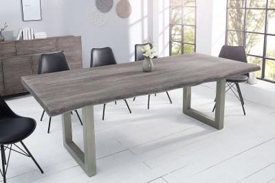 Design étkezőasztal Massive 220 cm szürke akác