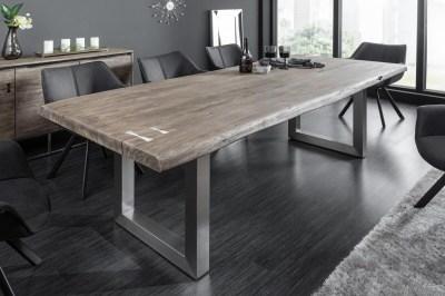 Design étkezőasztal Massive Artwork 220 cm szürke akác