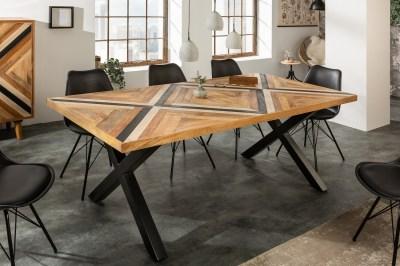 Design étkezőasztal Rodney 200 cm fekete / mangó