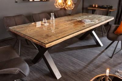 Design étkezőasztal Shark X 220 cm természetes