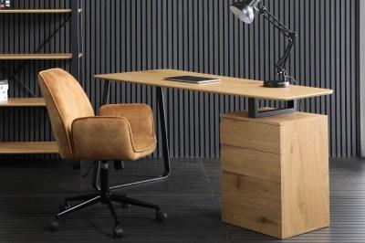 Design íróasztal Kiana 160 cm tölgy minta