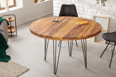 Design kerek étkezőasztal Elegant 120 cm Sheesham