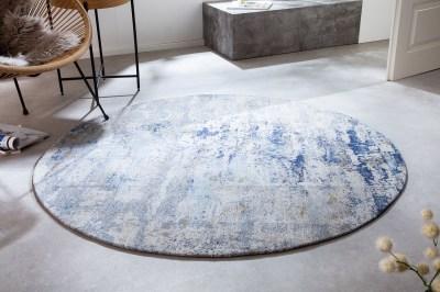 Design kerek szőnyeg Rowan 150 cm bézs-kék