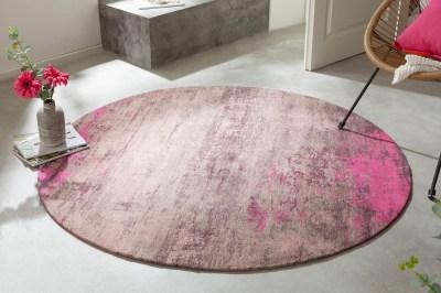 Design kerek szőnyeg Rowan 150 cm bézs-rózsaszín