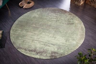 Design kerek szőnyeg Rowan 150 cm zöld-bézs
