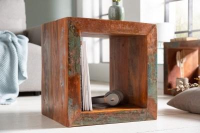 Design kisasztal Jacktar 45 cm újrahasznosított fa