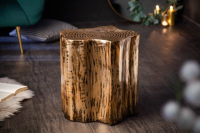 Design kisasztal Malia Organic arany