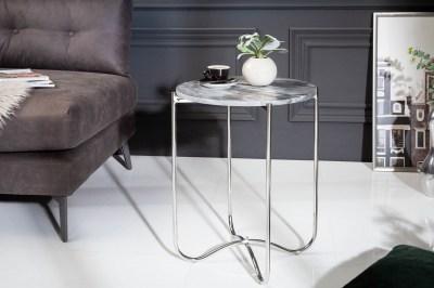 Design kisasztal Tristen III 43 cm márvány szürke