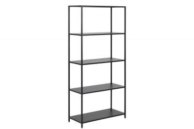 Design könyvespolc Layton 150 cm fekete