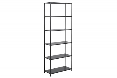 Design könyvespolc Layton 185 cm fekete