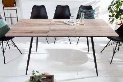 Design meghosszabítható étkezőasztal Nathalie 120-160 cm természetes szürke