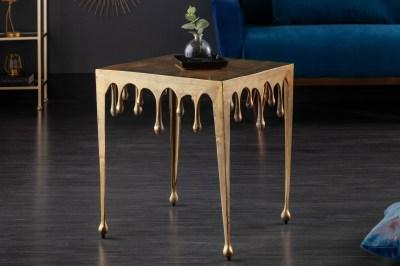 Design oldalsó asztal Gwendolyn L 50 cm arany