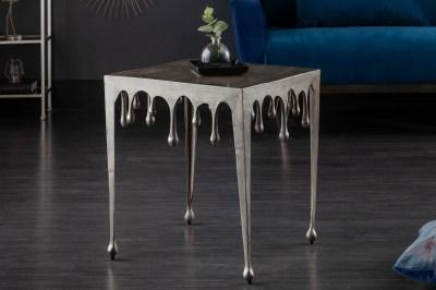 Design oldalsó asztal Gwendolyn L 50 cm ezüst