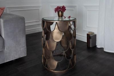 Design oldalsó asztal Pablo 40 cm sárgaréz