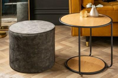 Design oldalsóasztal székkel Kiana 55 cm tölgy utánzata
