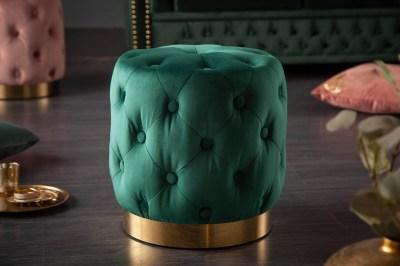 Design puff Rococo 37 cm sötétzöld
