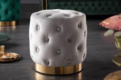 Design puff Rococo 37 cm szürke
