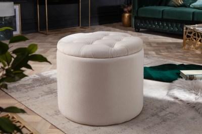 Design puff Rococo 50 cm bézs