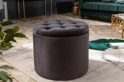 Design puff Rococo 50 cm fekete