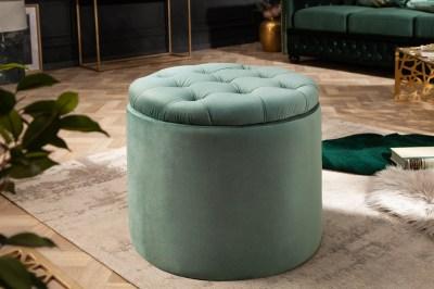 Design puff Rococo 50 cm menta