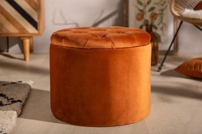 Design puff Rococo 50 cm rozsdabarna