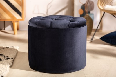 Design puff Rococo 50 cm sötétkék