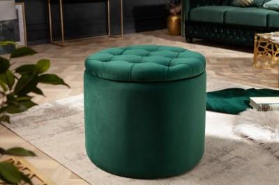 Design puff Rococo 50 cm sötétzöld