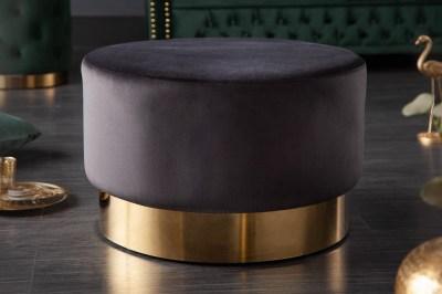 Design puff Rococo 55 cm fekete