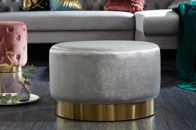 Design puff Rococo 55 cm szürke / arany