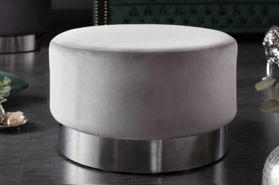 Design puff Rococo 55 cm szürke