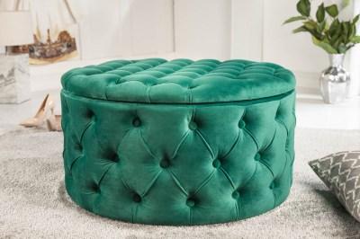 Design puff Rococo 75 cm zöld