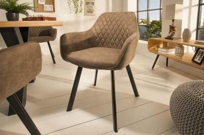 Design szék Francesca, szürke-barna taupe