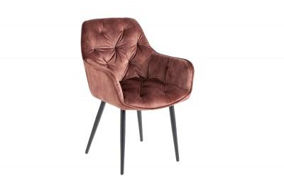 Design szék Garold barna bársony