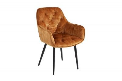 Design szék Garold mustársárga bársony