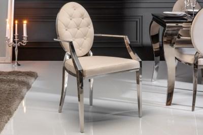 Design szék háttámlákkal Rococo II bézs