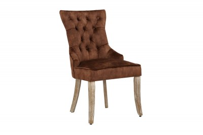 Design szék Queen bársony barna