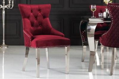 Design szék Queen Levia fej bársony piros