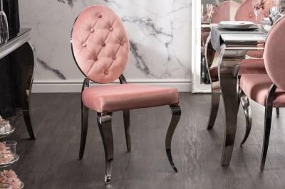 Design szék Rococo II rózsaszín