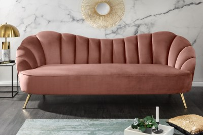 Design ülőgarnitúra Adalia 220 cm rózsaszín