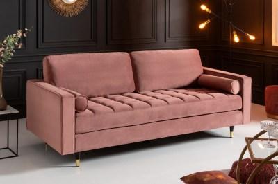 Design ülőgarnitúra Adan 225 cm rózsaszín bársony