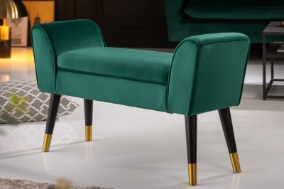 Design ülőpad Dafina 90 cm bársony smaragdzöld