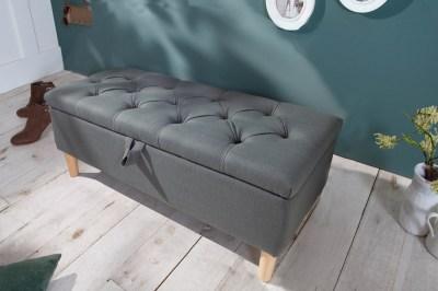 Design ülőpad Queen 100 cm szürke