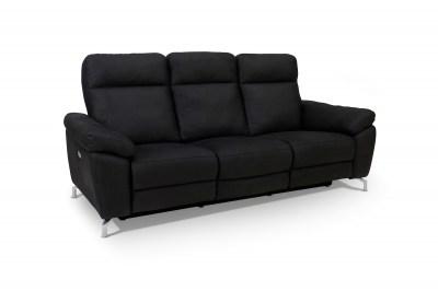 Ízléses 3-személyes kanapé Abeeku fekete
